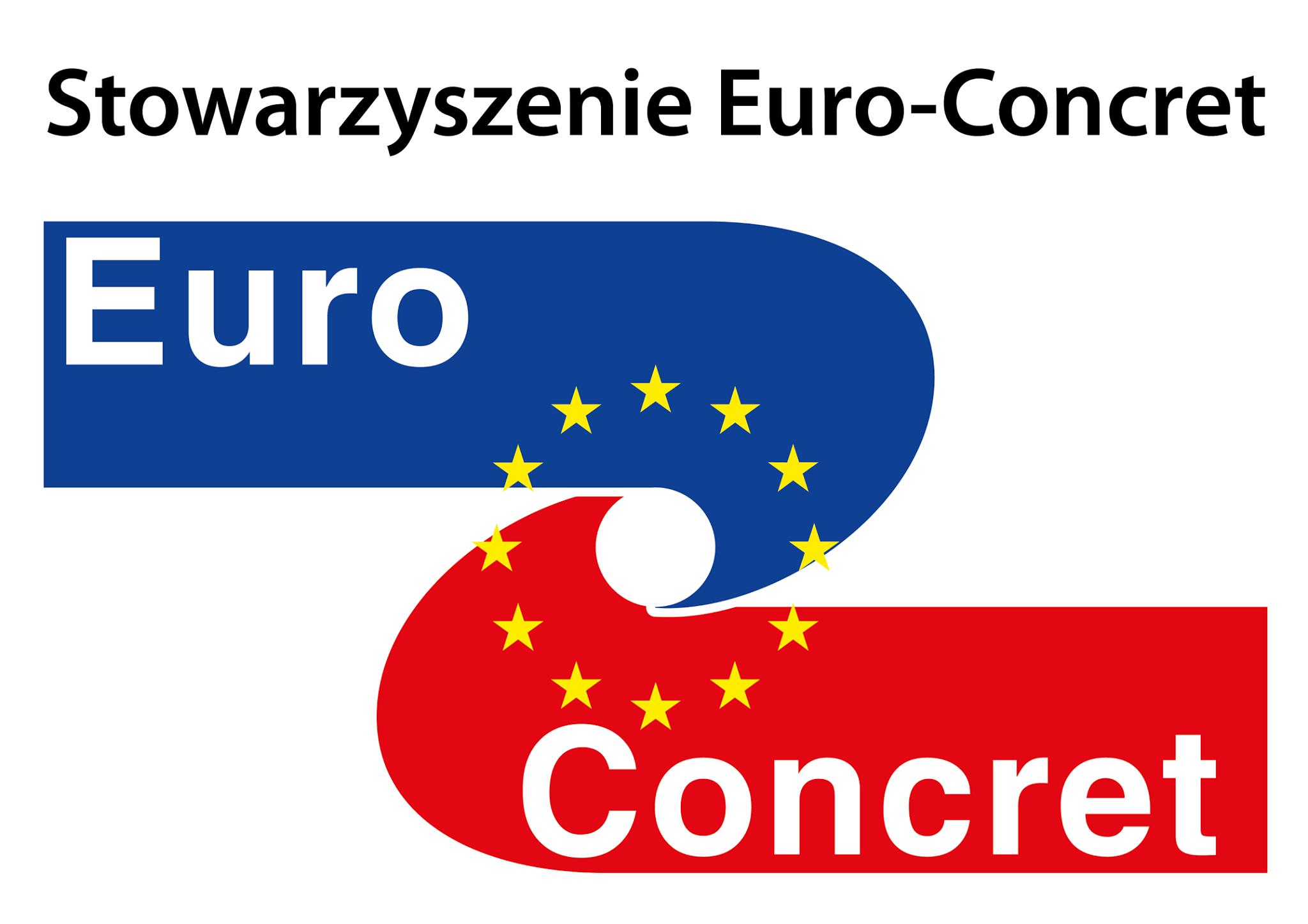 Zdjęcie przedstawia logo Stowarzyszenia Euro-Concret
