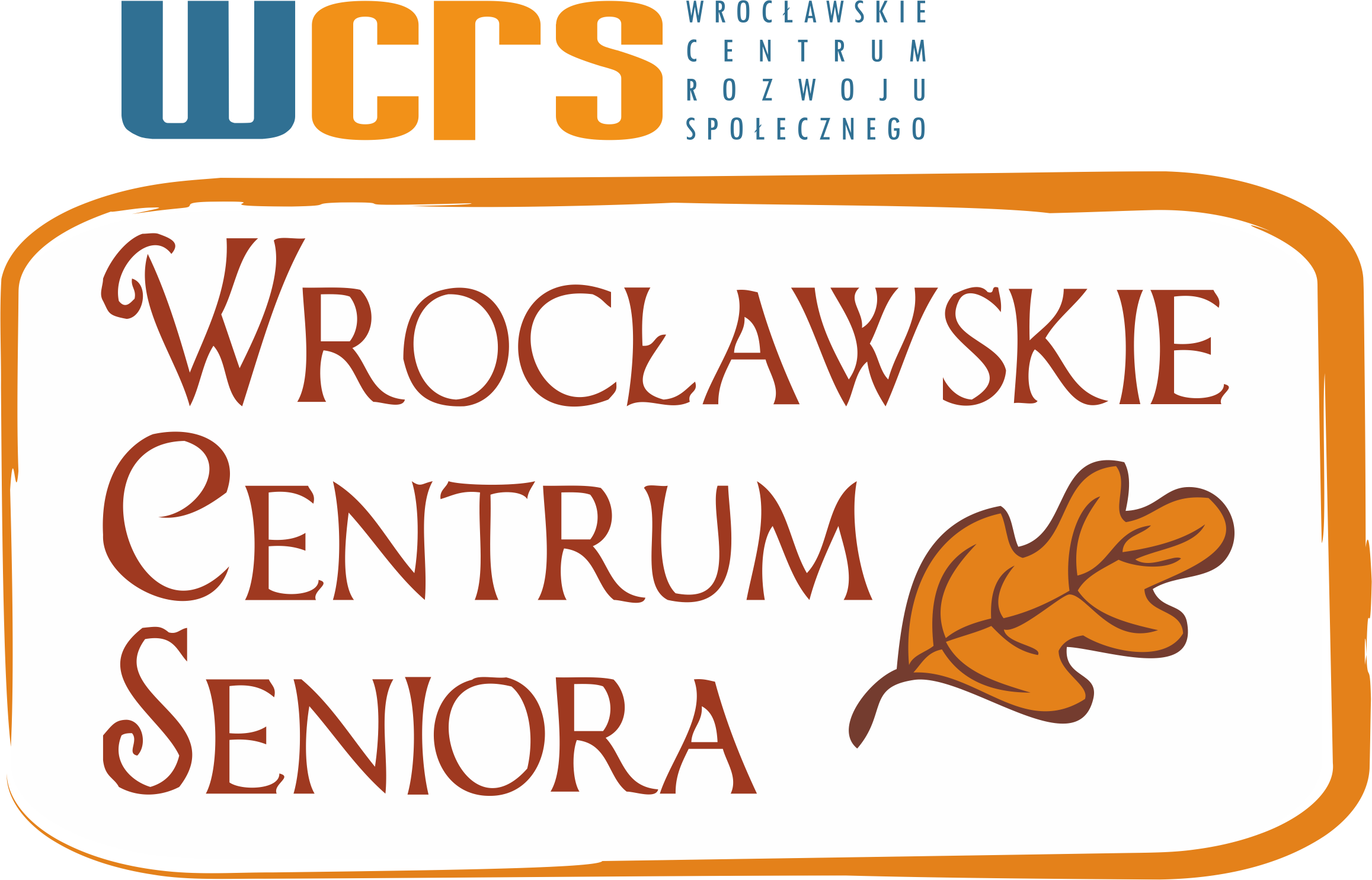 Zdjęcie przedstawia logo Wrocławskiego Centrum Seniora